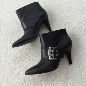 Nine West Black Buckle Ankle Boots